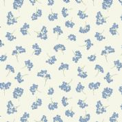 Lewis & Irene Flo's Wildflowers - 5427 - Forget-Me-Nots on Cream - FLO8.3 - Cotton Fabric